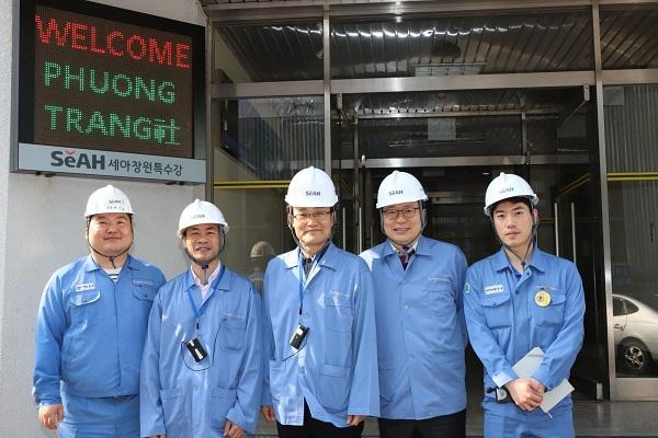 Thăm nhà cung cấp SeAH tại Hàn Quốc